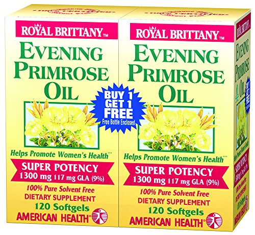 Evening Primrose Oil 1300mg Royal Brittany Twin Pack American Health Products 12 ()