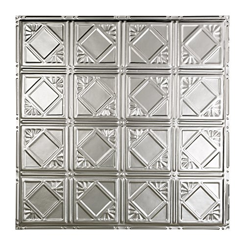 Great Lakes Tin Ludington Unfinished Nail-Up Ceiling Tiles – Package of Five 2ft x 2ft Panels – Choose from 11 Styles – Perfect for DIY and Home Renovation Projects – Easy to Install
