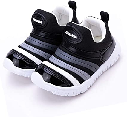 Double luck Children Mesh Breathable Running Shoes Casual Shoes for Walking Black-28
