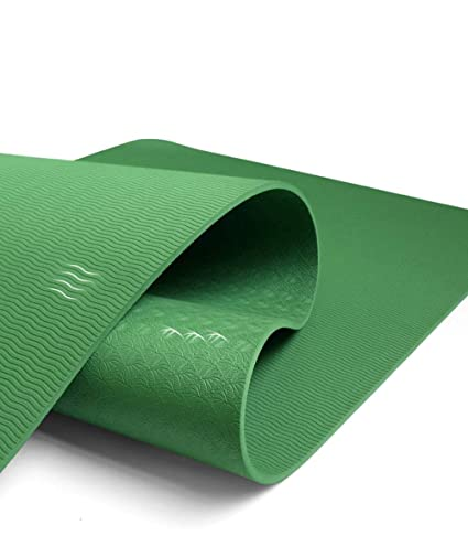 Amazon.com : YXGYJD Pilates Mat Yoga Mat Rubber Yoga Mat, Non-Slip Stripes, Non-Slip, Wear-Resistant, Specifications: 183X66CM Thickness: 8mm, Yoga, ...