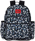 Disney Mickey Mouse Toss Head Print Backpack Diaper Bag, Black