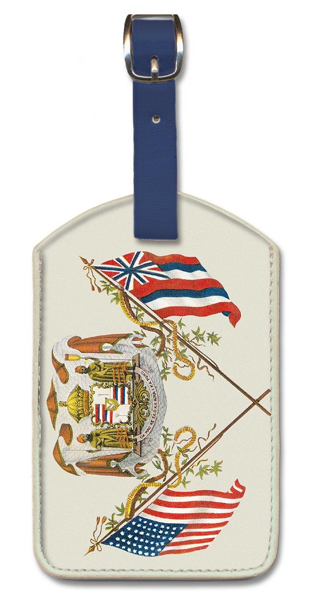 Pacifica Island Art Leatherette Luggage Tag - Royal Hawaiian Coat of Arms