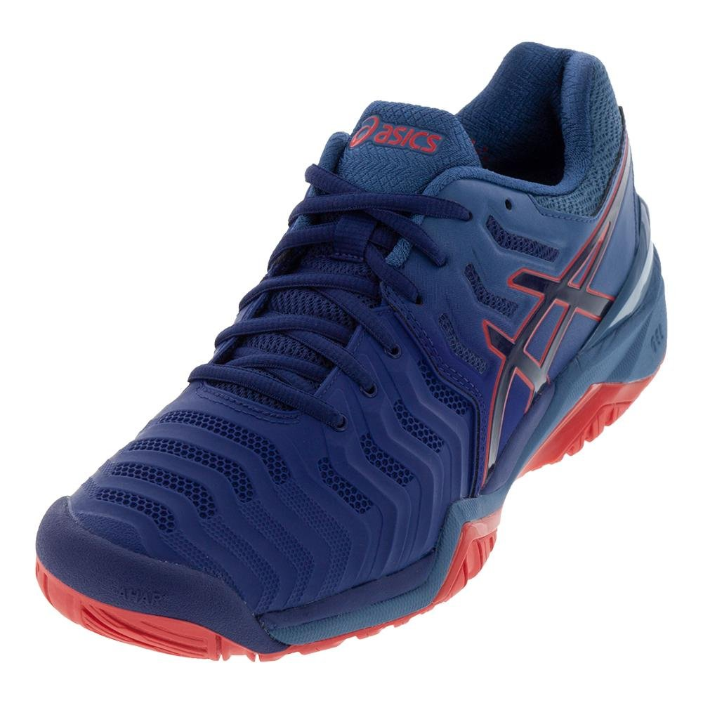 ASICS Men's Gel-Resolution 7 Tennis Shoe B077NHDS3M 10.5 D(M) US|Blue/Blue