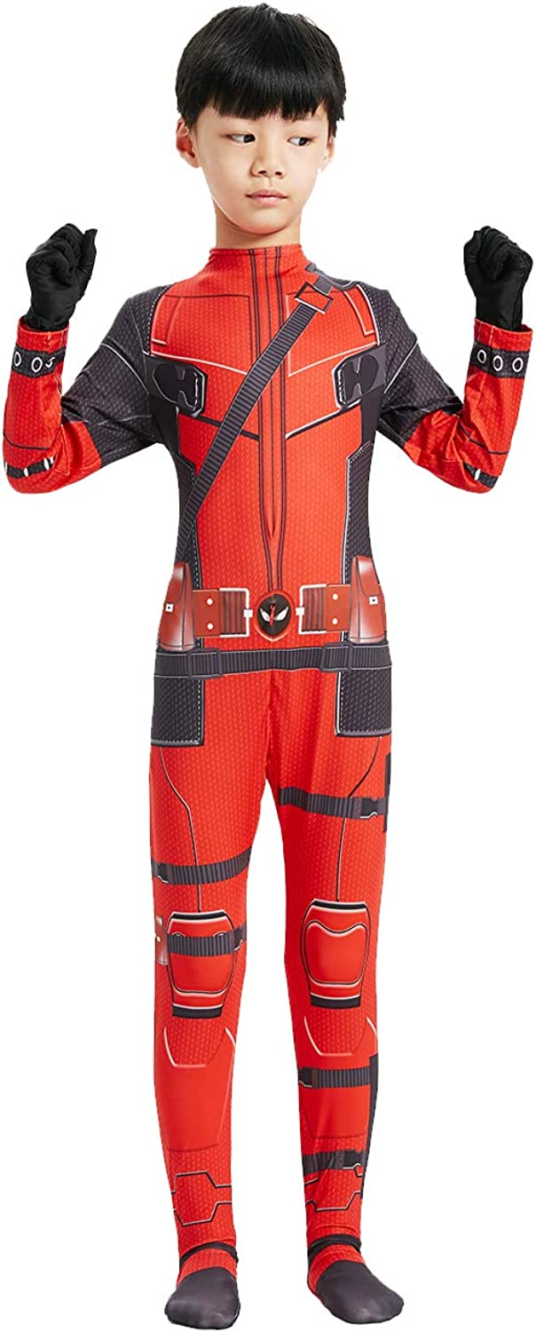 MEET Superhero Kids Bodysuit Costumes Lycra Spandex Halloween Cosplay Costumes