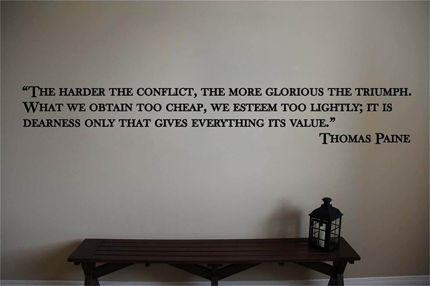 the harder the conflict the more glorious the triumph