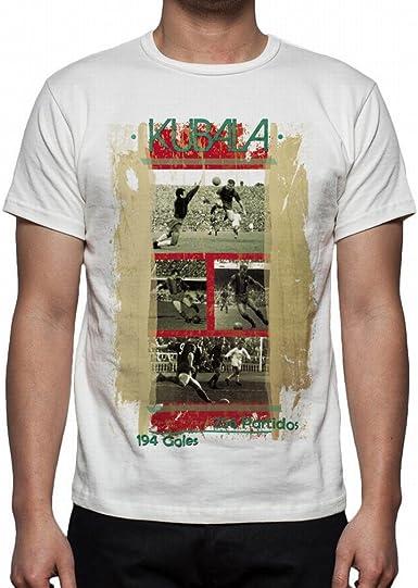 Palalula Hombre F.C. Barcelona Kubala Tribute Camiseta XXXL White: Amazon.es: Ropa y accesorios