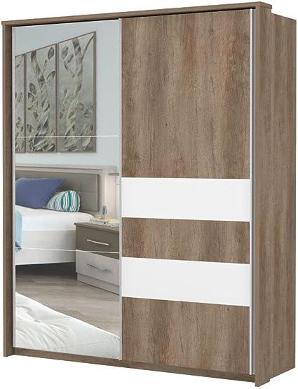 Armario Dormitorio Marrón Oscuro 225 x 188 x 64 cm, armario de ...