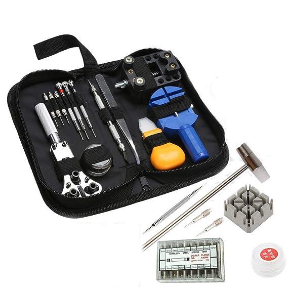 380 pcs Reloj Juego de herramientas profesional Reloj de pulsera Reparación Herramientas Kit Para Abrir Reloj