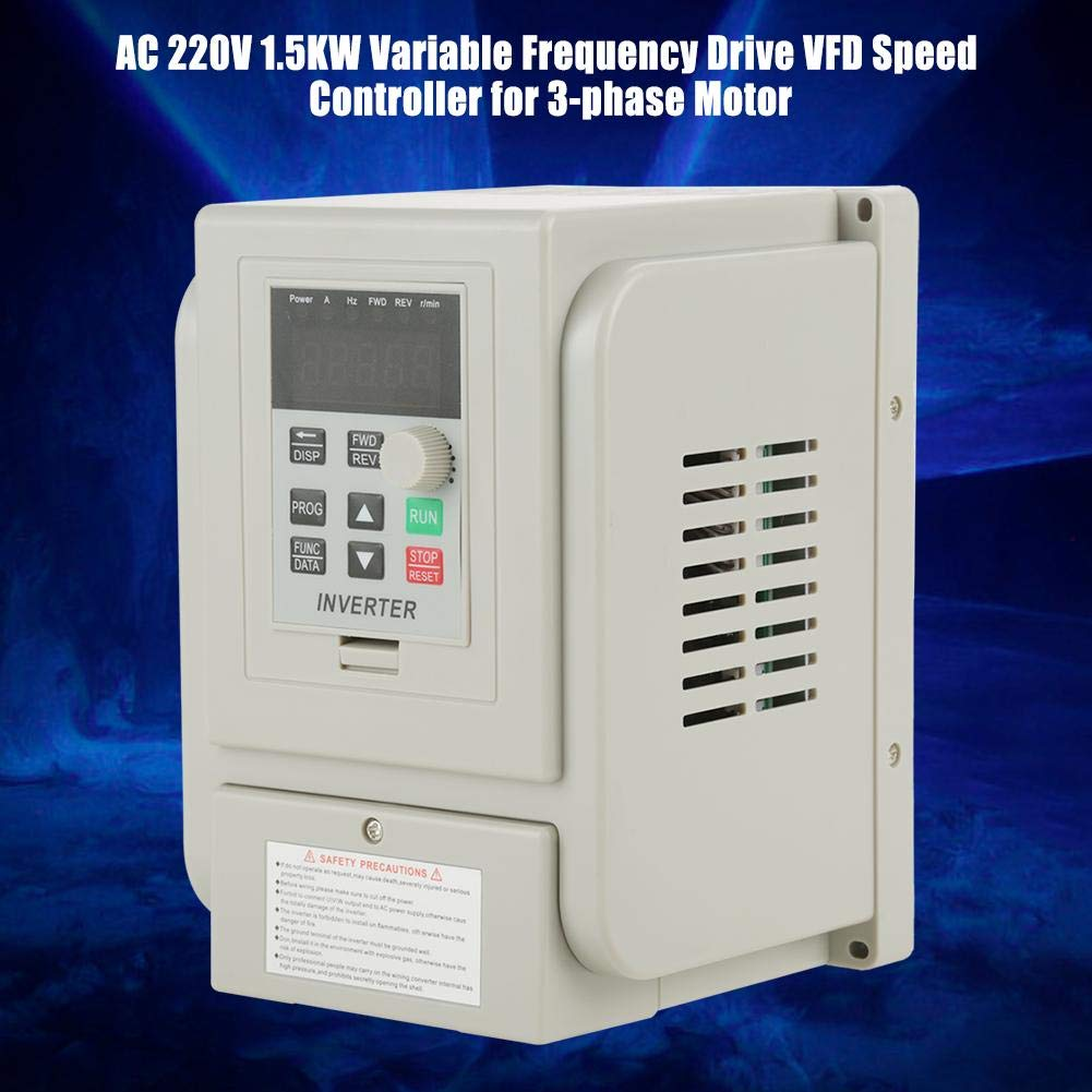 VFD 220V, Single-Phase Variable Frequency Drive,Low Noise Electromagnetic Interference,for 3-Phase 1.5KW AC Motor by Thincol (Image #3)