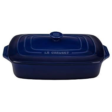 Le Creuset Indigo Stoneware Covered 3.5 Quart Rectangular Casserole Dish