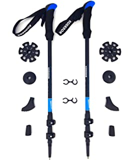 Hiking Adjustable Lightweight 7075 Aluminum Telescopic Hiking Poles with Anti-shock Vejoy Collapsible Walking Trekking Poles Walking Backpacking /& Mountaineering Quick Lock System for Men /& Women Camping Trekking 1 Pair
