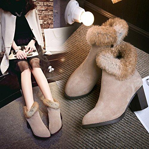 Stivali cotone pelle donna 36 Martin polsini invernali caldo di invernali polsini   001cf0