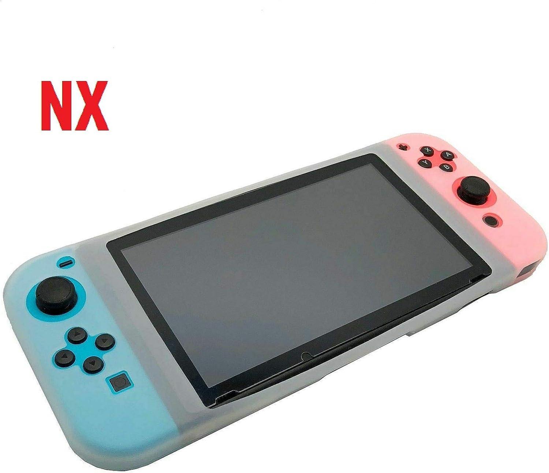 REPRO Funda Silicona para Nintendo Switch NX Carcasa Estuche antigolpes Transparente: Amazon.es: Electrónica
