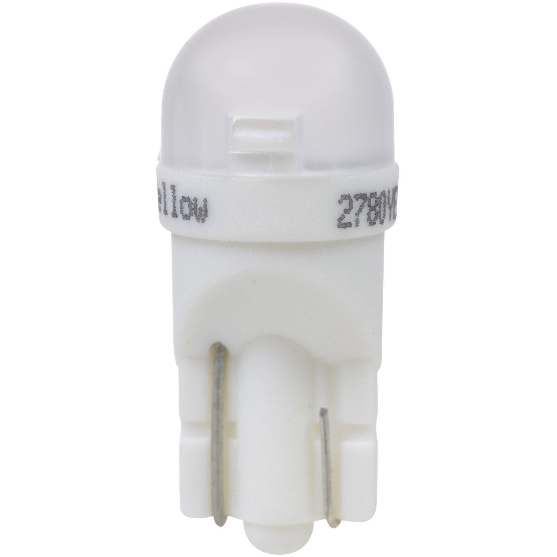 Ideal for Interior Lighting Contains 2 Bulbs 194 T10 W5W LED Amber Mini Bulb SYLVANIA Bright LED Bulb