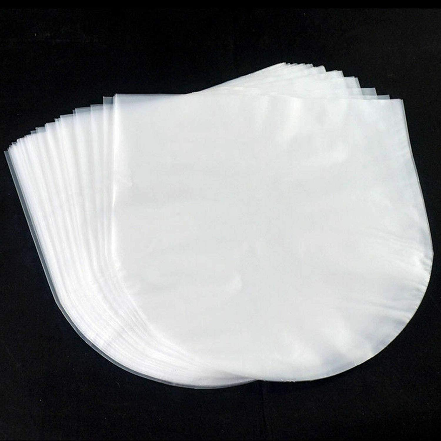 50Pcs LP Inner Sleeves Anti Static Round Bottom 33 RPM 12 Vinyl Record Sleeves Provide Your LP Collection with The Proper Protection