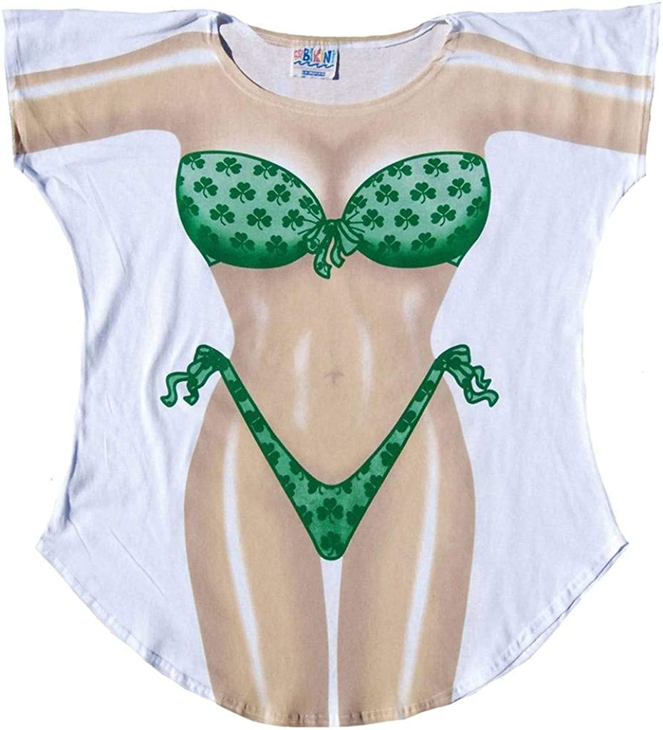 LA Imprints Womens Bathing Suit Cover Up-Shamrock-Medium//Large