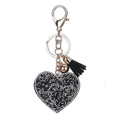 Republe Amour pendentif coeur Porte-clés Porte-clefs filles Conception  Tassel cristal Sac pendentif Bijoux Porte-clés  Amazon.fr  Vêtements et  accessoires f683d4403a7