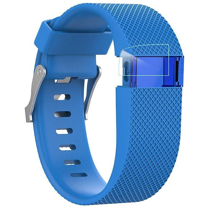 Hanomes Correas para Relojes Correa de Silicona de reemplazo Correa de Silicona + película Protectora para Fitbit Charge HR: Amazon.es: Ropa y accesorios