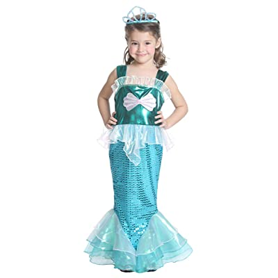 JFEELE Girls Little Mermaid Costume Turquoise -...