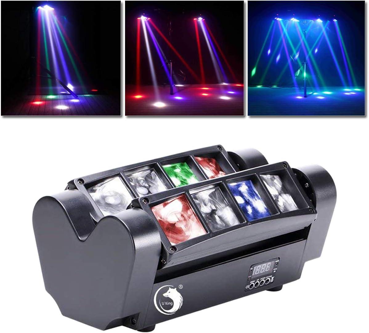 UKing Cabeza Móvil, 80W LED Luz del Partido la Iluminación del Escenario DMX512 DJ Disco para Bar Fiesta Navideña Halloween
