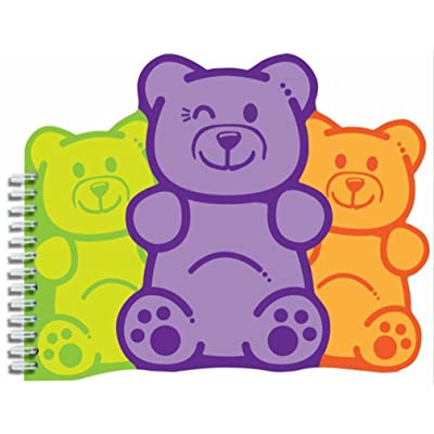 """iscream 'Winking Gummi Bears' Shaped Spiral-Bound Lined Page 6.5"""" Notebook: Toys & Games"""
