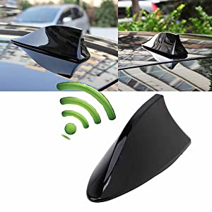 Possbay Universal Car Antenna Aerial Shark Fin Radio Signal for Auto SUV Truck Van