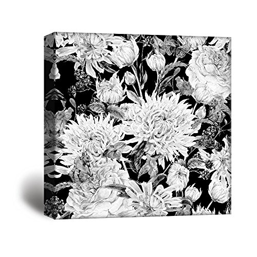 Square Flowers Petals in Black and White Gallery …