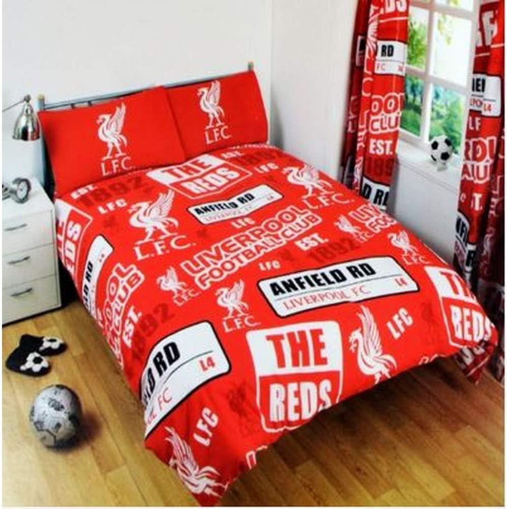 Lit Simple Liverpool FC Ensemble de lit Rouge//Blanc