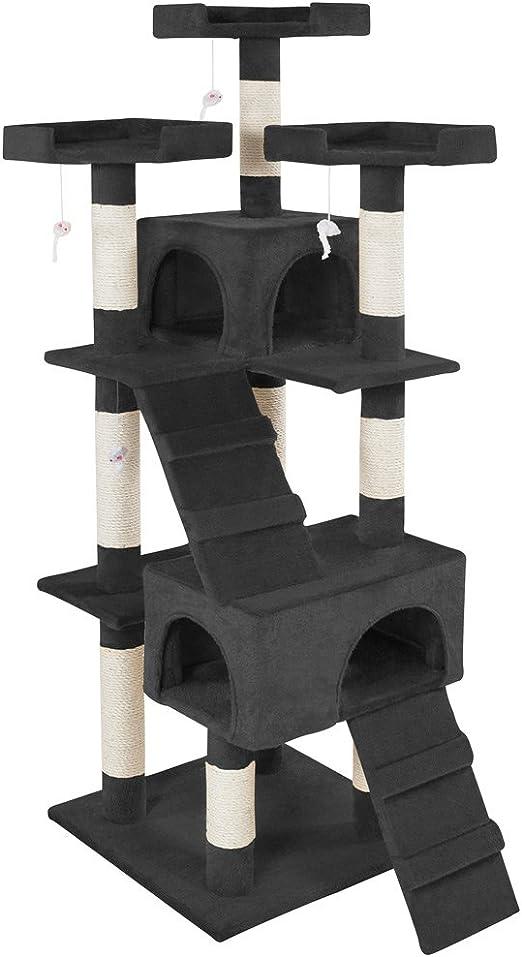 TecTake Rascador Árbol para Gatos Sisal (Negro | No. 400929): Amazon.es: Productos para mascotas