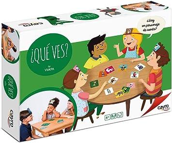 Cayro - Qué Ves - Juego de observación y Habilidades lingüísticas- Juego de Mesa - Desarrollo de Habilidades cognitivas e inteligencias múltiples - Juego de Mesa (887): Amazon.es: Juguetes y juegos