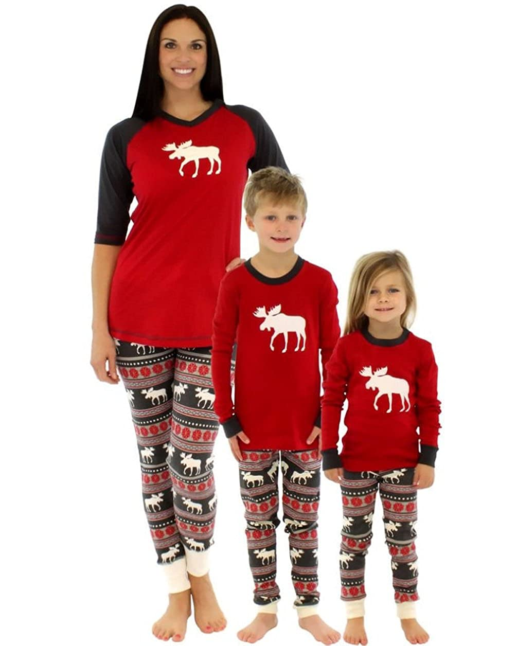 isshe matching family christmas pajamas kids boys adult deer pajama sets childrens pajama for couples ladies
