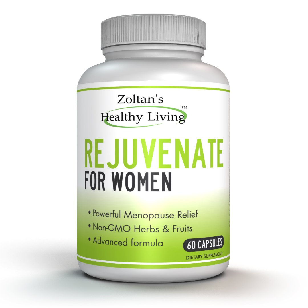 Powerful Menopause Relief Supplement with Non-GMO Herbs and Fruits, 60 Capsules by Zoltan's Healthy Living