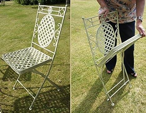 Sedie Da Giardino In Ferro : Aunt hilda sedia da giardino in ferro battuto colore nero da
