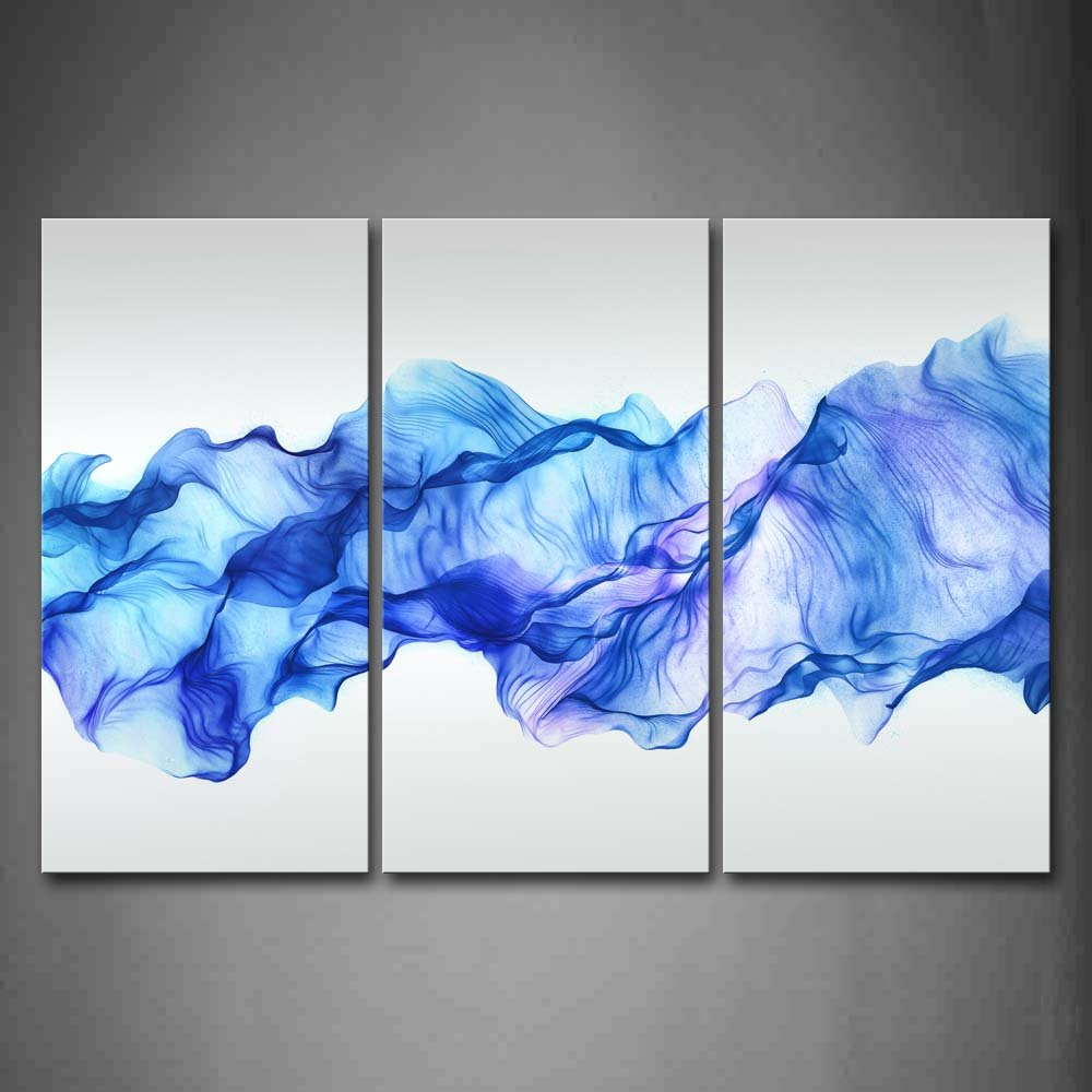 Firstwallart Artistic Abstract Blue Like Wave Wall Art Painting Pictures Print On Canvas Abstract The Picture For Home Modern Decoration by Firstwallart