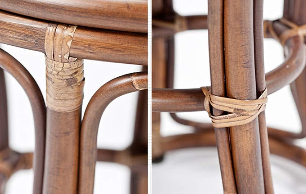 AO-stools Rattan Short Drum Stool Home Small Stool Dressing Stool Ottoman Laundry Stool 42x36cm by AO (Image #1)