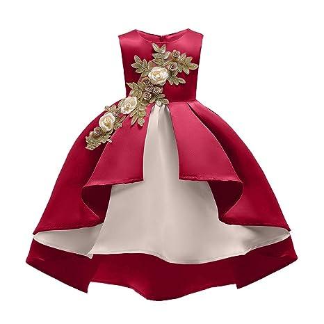 Vestido De Princesa Para Niñas Diseño De Flores Elegantes