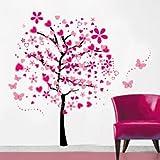 Fai da te a forma di alberi con farfalla Adesivi da parete, IVIDZ Adesivi da parete removibili home decor-Carta da parati, Adesivi da parete per soggiorno, camera da letto, cameretta, camera bambino, creative art deco Adesivo Sticker