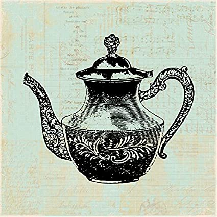 Amazon.com: Old Fashioned Teapot Print for Wall Art & Home ...