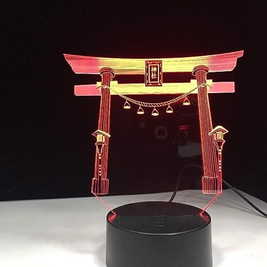 half off a9315 c9293 Japan Japanese Shrine Jinja USB 3D LED Nachtlicht Multicolor ...