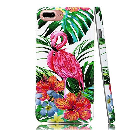 Lartin Tropical Flamingos Green Leaves Jungle Floral Soft Fl