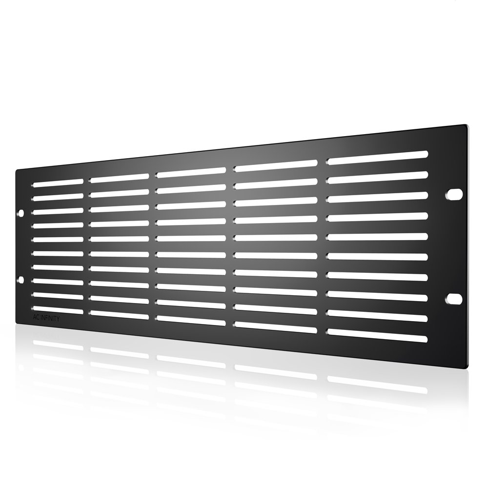 AC Infinity Rack Panel Accessory Vented 3U Space for 19'' Rackmount, Heavy-Duty 3mm Gauge Steel, Black