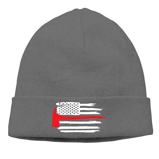 0aa83e5cba8 Amazon.com  American Flag Thin Red Line Firefighter Axe Fire Toboggan Cap