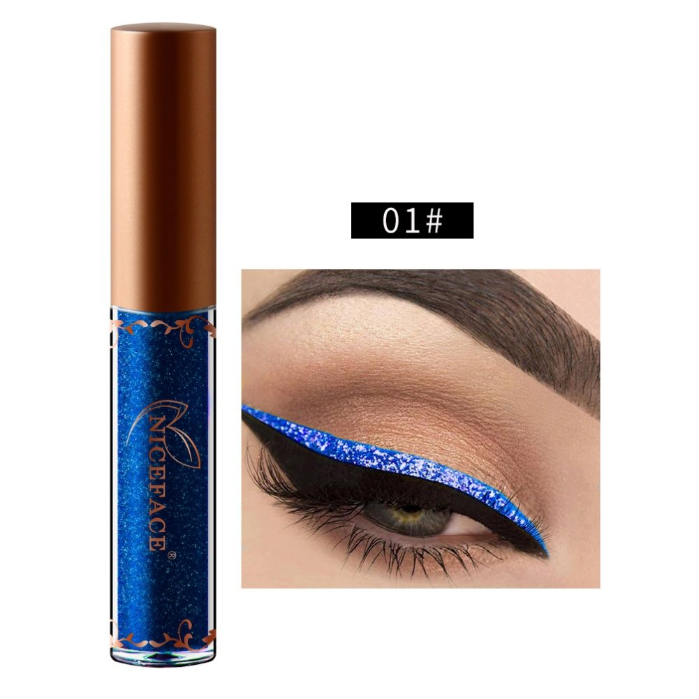 NICEFACE Eyeliner liquid paillette Waterproof Maquillage 12 Couleur Woya