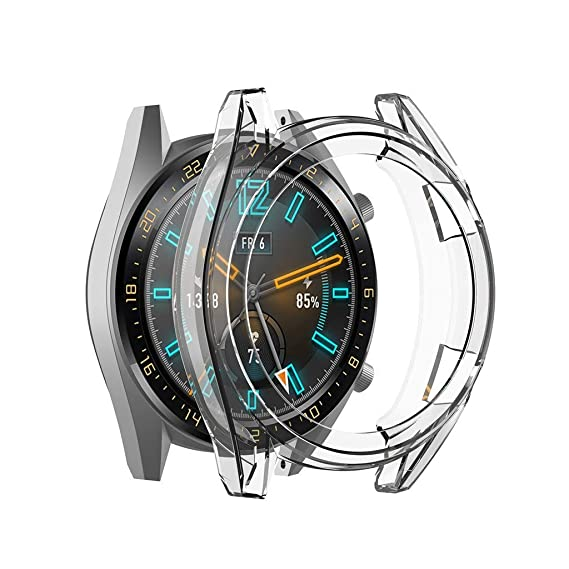 Clear Thin TPU Protector Bumper Watch Frame Funda para ...