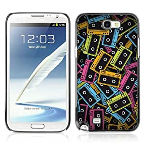 Designer Depo Hard Protection Case for Samsung Galaxy Note 2 N7100 / Cool Vintage Cassette Tapes by icecream design