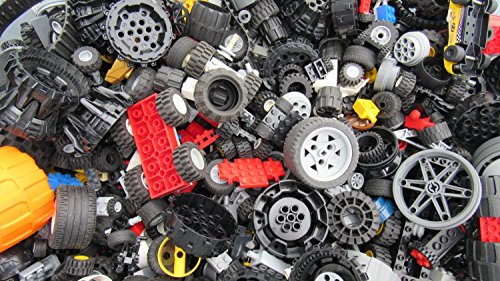 2 Pounds of Lego Wheels (Includes Hundreds of (Axle Parts Set)