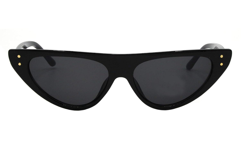 ba8cea56f3780b Cheapass Lunettes de soleil Larges Noires Brillantes Style yeux de chat  pour Femmes Coins à crampons UV400  Amazon.fr  Vêtements et accessoires