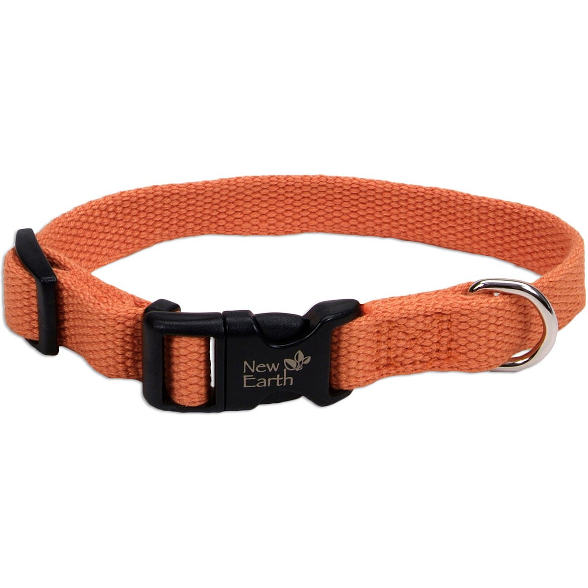 Coastal Pet Products New Earth 14901 PMK26 2.5cm Natural Fibre Soy Adjustable Dog Collar, Large, 18 to 70cm, Pumpkin