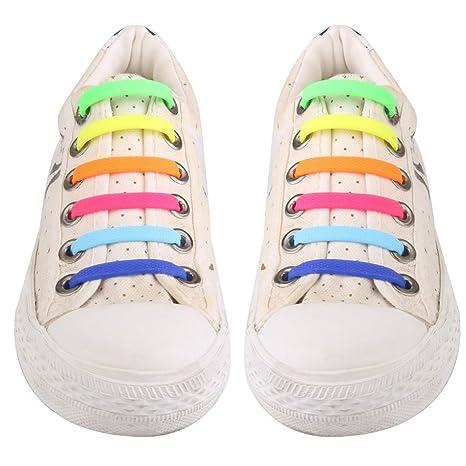 f3ab82b056947 UEETEK No conjunto de 12pcs cordón elástico de silicona de corbata para  niños niños Multicolor