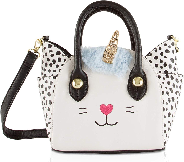 Luv Betsey Johnson Katt Cat Face Small Satchel Crossbody Handbag